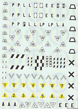 Signaltafeln Decalbogen »DB/DR« 1:160