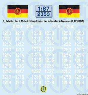 Taktische Nummern 2. Bataillon 1:87