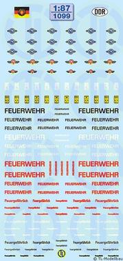 Feuerwehr-Beschriftungen »DDR« 1:87