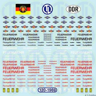 DDR Feuerwehr-Schriftzüge 1:120