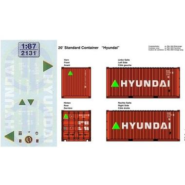Hyundai Beschriftungen 1:87