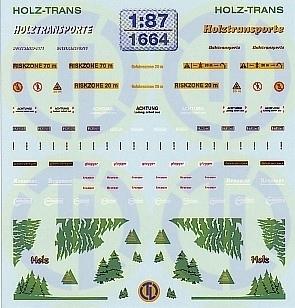 Dekore für Holztransporter 1:87
