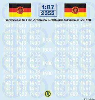 Taktische Nummern Panzerbataillon 1:87