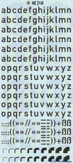 Kleinbuchstaben 6 mm