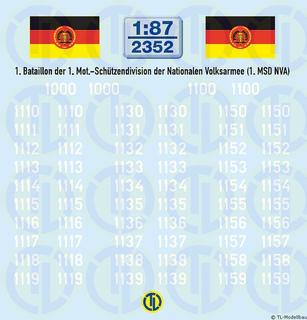 Taktische Nummern 1. Bataillon 1:87
