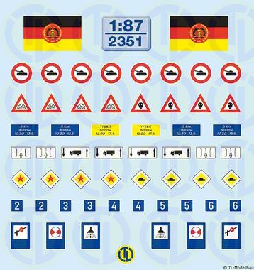 NVA Militärverkehrszeichen 1:87