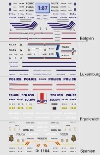 Internationale Polizei 1:87