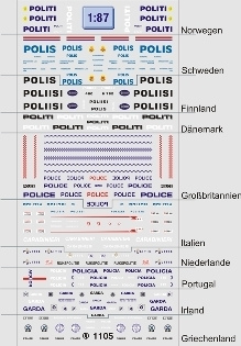 Internationale Polizei 1:87