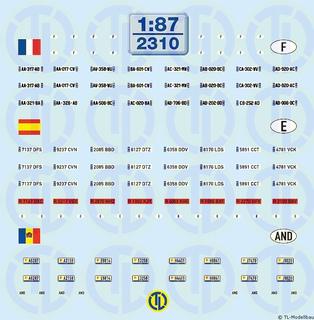 Kfz-Kennzeichen »Frankreich · Spanien...