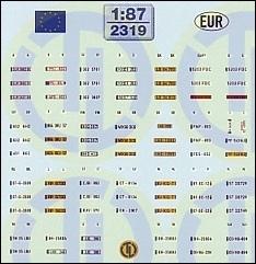 Euro Kfz-Kennzeichen »Europa« 1:87
